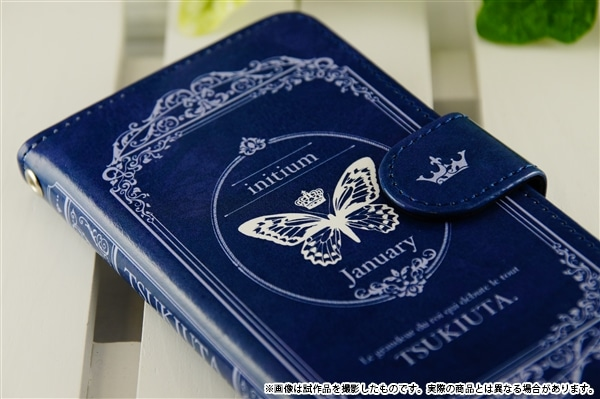 ツキウタ。 手帳型スマホケース initium