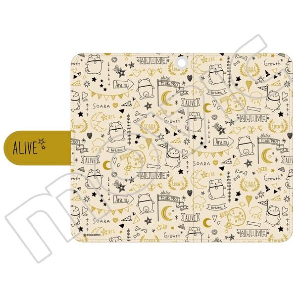 ALIVE 手帳型スマホケース アライヌ テキスタイル