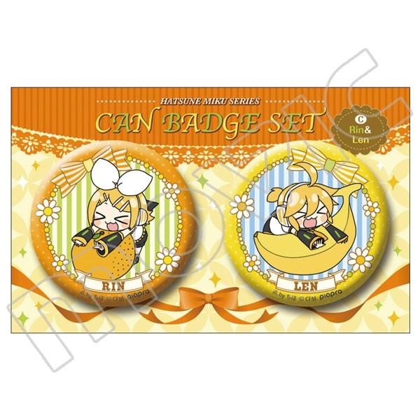 初音ミクシリーズ 缶バッジセット リン&レン(ちほver.)