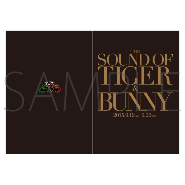 THE SOUND OF TIGER & BUNNY/パンフレット