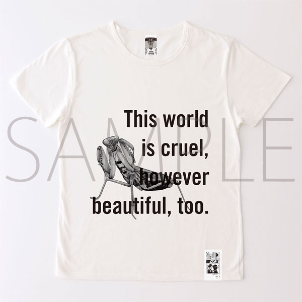 進撃の巨人展 進撃の巨人メッセージTシャツ No.4 世界(M)