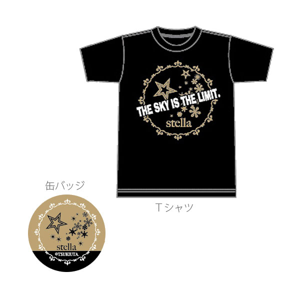 ツキウタ。 ツキウサ。用ミニTシャツ&缶バッジ(7月発売) 12月