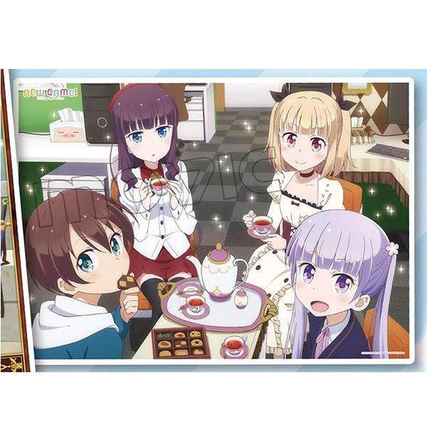 NEW GAME!  ミニクリアポスター お菓子パーティー