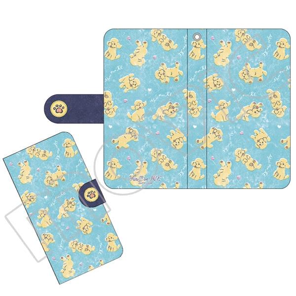 ユーリ!!! on ICE 手帳型スマートフォンケース テキスタイルマッカチン柄