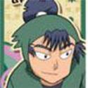 忍たま乱太郎 和紙ステッカー 食満留三郎