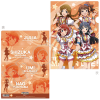 THE IDOLM@STER MILLION LIVE! クリアファイル 静香、奈緒、ジュリア、海美