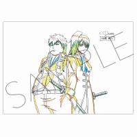 銀魂 アニメ原画クリアファイル D:X子&総子