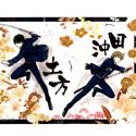 銀魂 デスクマット/B 土方、沖田