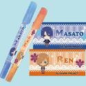 うたのプリンスさまっ♪マジLOVE1000% カラーペンセットB 真斗(ブルー)&レン(オレンジ)