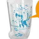 青の祓魔師 クロの足形グラス