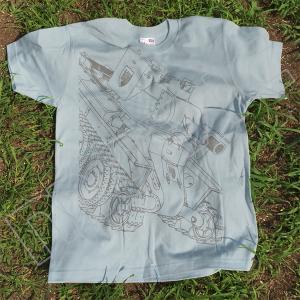 『ガールズ&パンツァー 劇場版』 Tシャツ 継続 BT-42 L