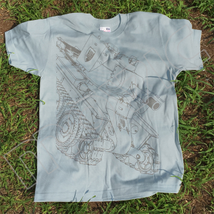 『ガールズ&パンツァー 劇場版』 Tシャツ 継続 BT-42 XL
