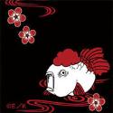 鬼灯の冷徹 パスケース/金魚草