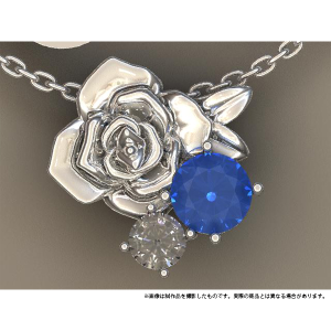 ツキウタ。 ネックレス バラモチーフ 白兎王国【受注生産限定商品】