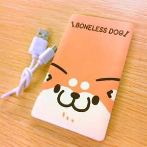 ボンレス犬とボンレス猫 モバイルバッテリー A:ボンレス犬