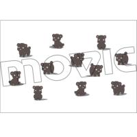 ユリ熊嵐 ポストカード/くまA沢山