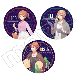 双子の魔法使いリコとグリ メタルステッカー3枚セット リコ&グリ&ビスJr.