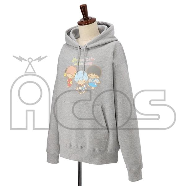 銀魂 プルオーバーパーカー YOROZUYA×LITTLE TWIN STARS 銀魂×サンリオキャラクターズ