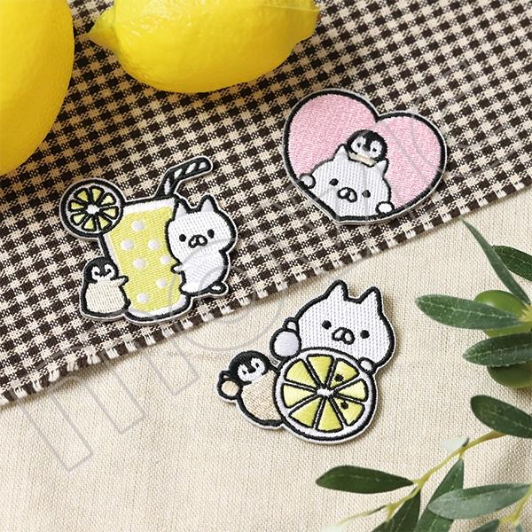 ねこぺん日和 ワッペンステッカー レモン