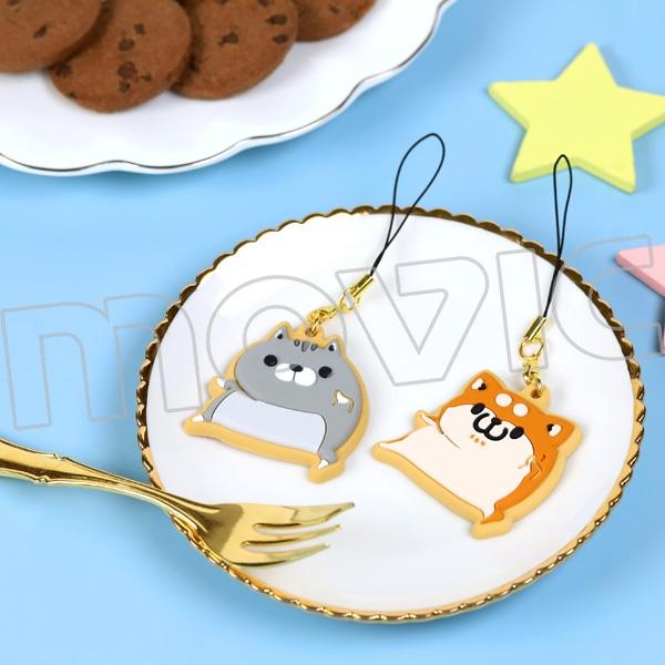 ボンレス犬とボンレス猫 クッキー風ラバスト ボンレス猫