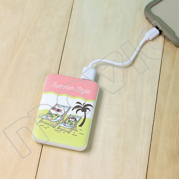 ねこぺん日和 モバイルバッテリー summer style