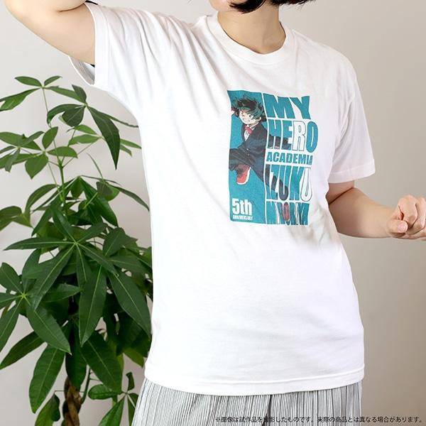 僕のヒーローアカデミア Tシャツ 5周年 緑谷