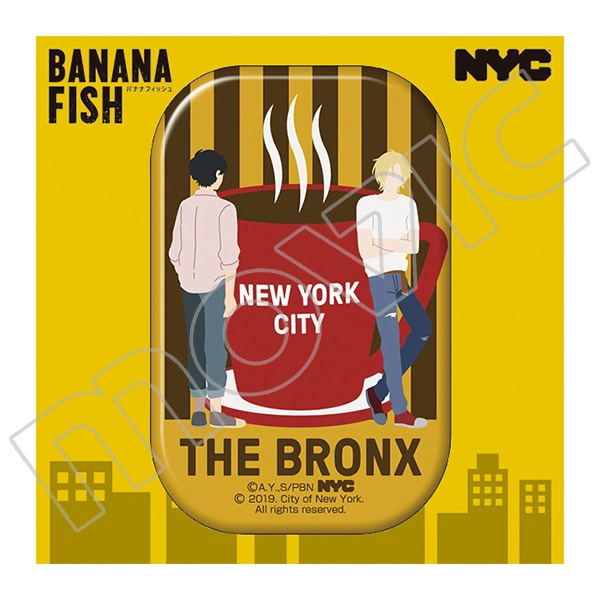 BANANA FISH 缶バッジ NYC BRONX Coffee