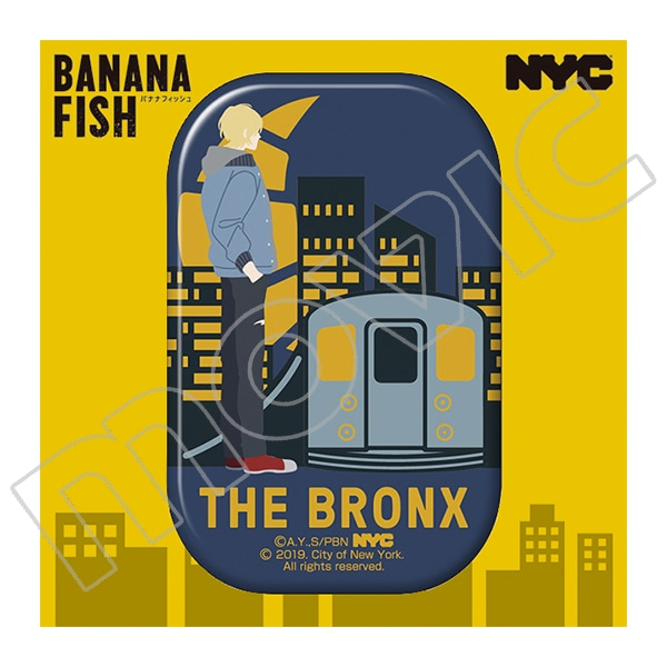 BANANA FISH 缶バッジ NYC BRONX Subway