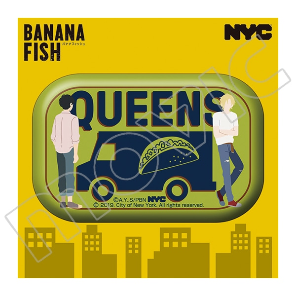 BANANA FISH 缶バッジ NYC QUEENS Taco Van