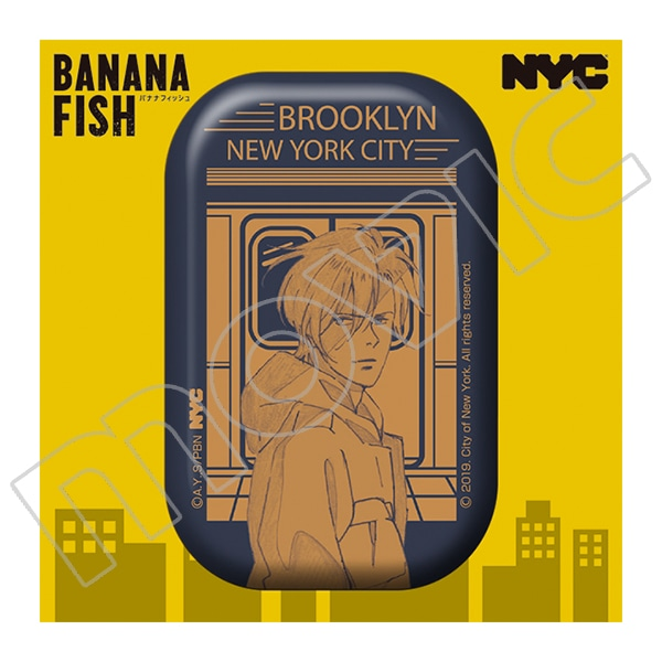 BANANA FISH 缶バッジ NYC BROOKLYN Subway