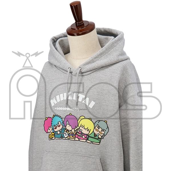 銀魂 プルオーバーパーカー KIHEITAI×GOROPIKADON 銀魂×サンリオキャラクターズ