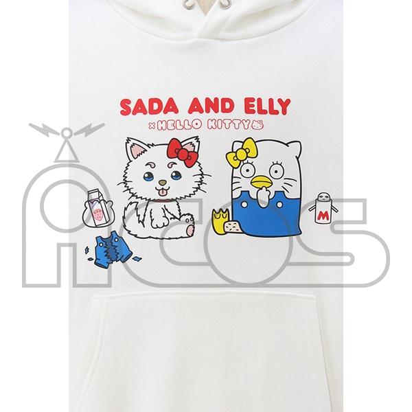 銀魂 プルオーバーパーカー SADA AND ELLY×HELLO KITTY 銀魂×サンリオキャラクターズ