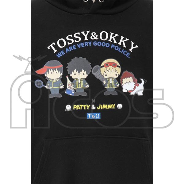 銀魂 プルオーバーパーカー TOSSY AND OKKY×PATTY&JIMMY 銀魂×サンリオキャラクターズ