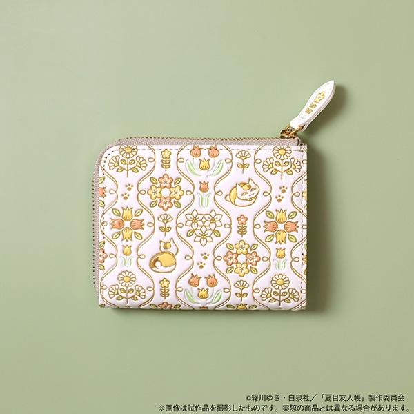 夏目友人帳 ニャンコ先生浅草文庫L字ミニ財布【受注生産商品】