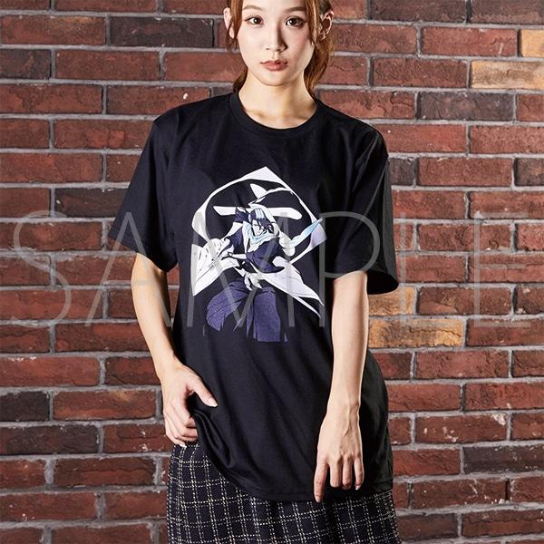 『BLEACH Brave Souls Museum』通信販売 BLEACH Brave Souls Tシャツ 朽木白哉 XL