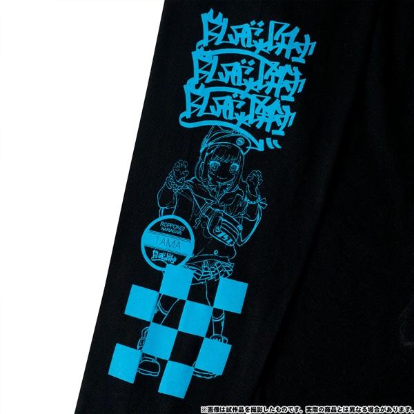 電音部 ーdenonbuー MNG × 電音部ロングTシャツ 黒鉄 たま XL