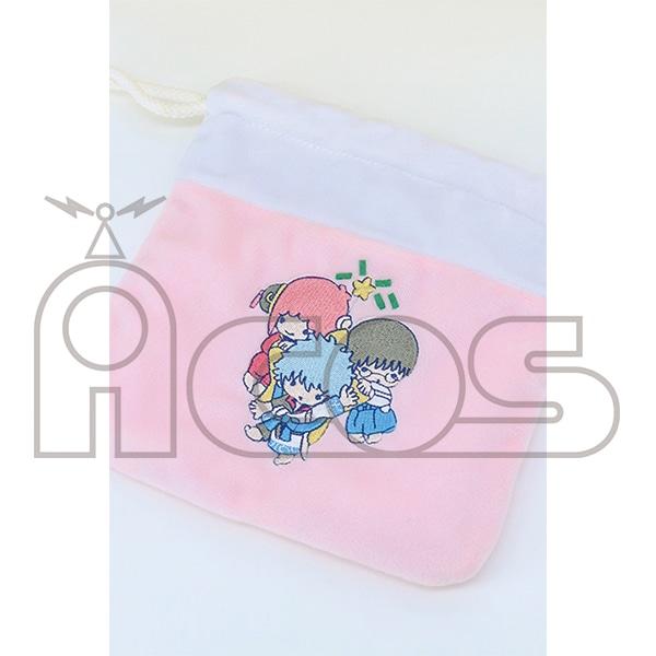 銀魂 もこもこ巾着ポーチ YOROZUYA×LITTLE TWIN STARS 銀魂×サンリオキャラクターズ