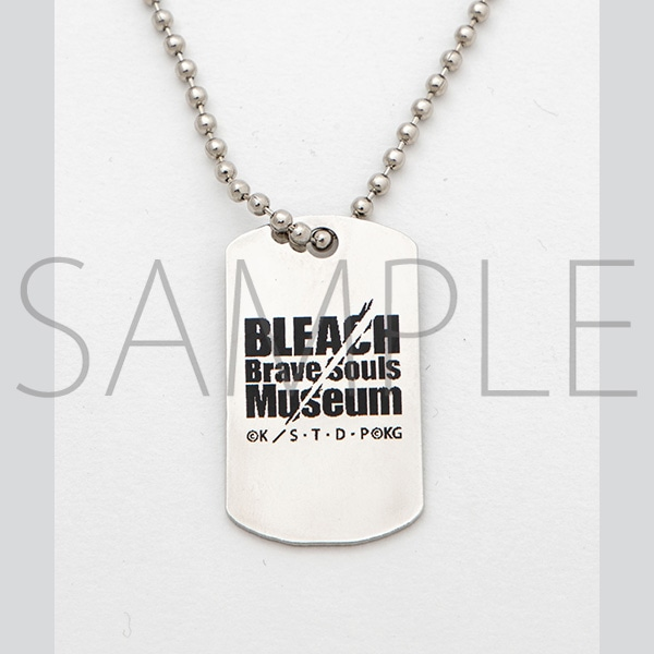 『BLEACH Brave Souls Museum』通信販売 BLEACH Brave Souls Museum コラボドッグタグネックレス(銀城空吾)