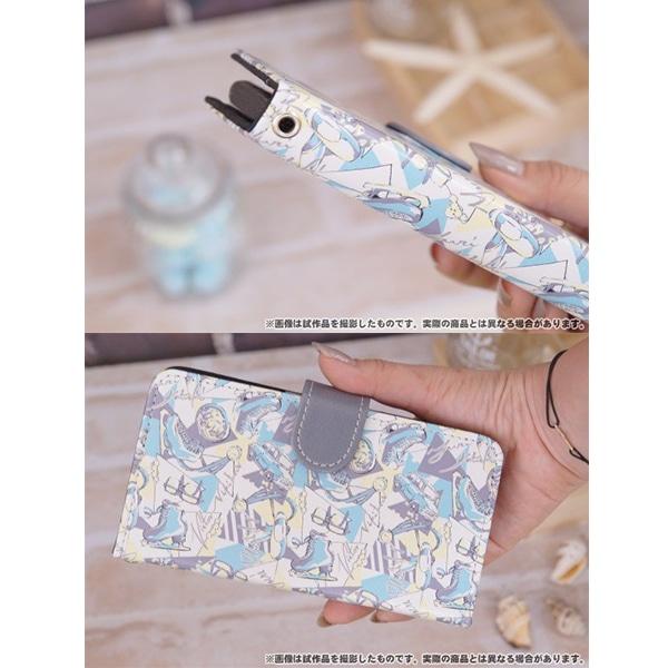 ユーリ!!! on ICE 手帳型スマートフォンケース テキスタイル総柄