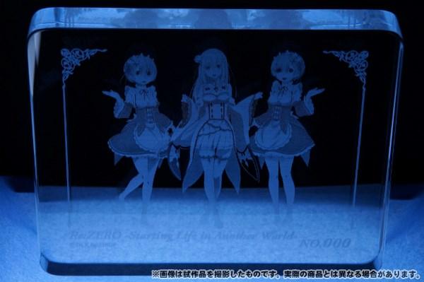 Re:ゼロから始める異世界生活 ガラスアート 【完全受注生産限定】