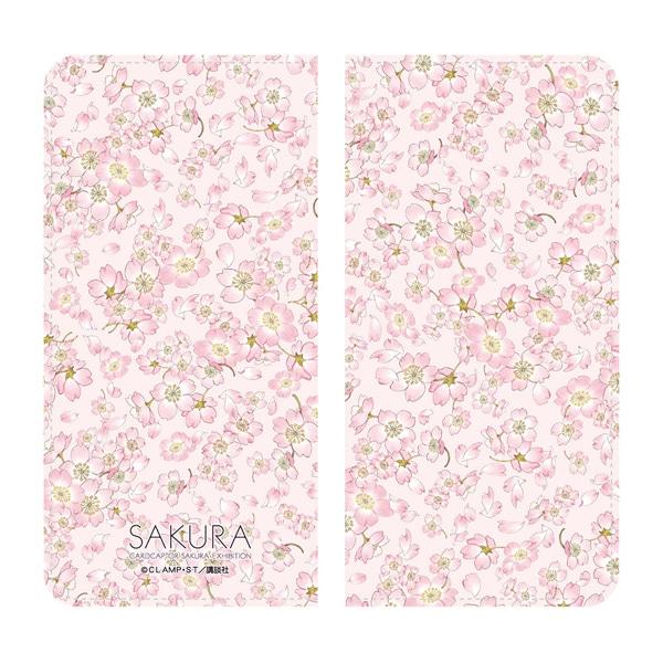カードキャプターさくら展 手帳型スマートフォンケース ピンク柄