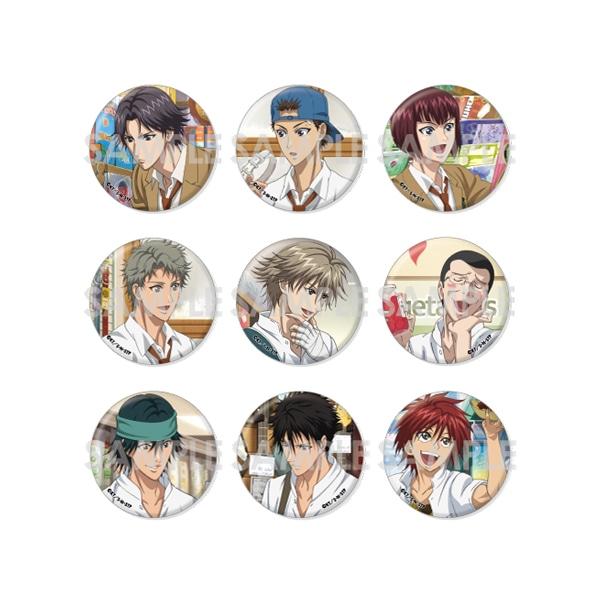 【受注生産】新テニスの王子様 くつろぎコレクション缶バッジ -in SHOPPING- Set.B