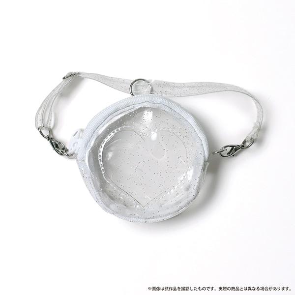 痛めいと MiMi-pochette(ミミ・ポシェット) クリアハートホワイト(ラメ入り)