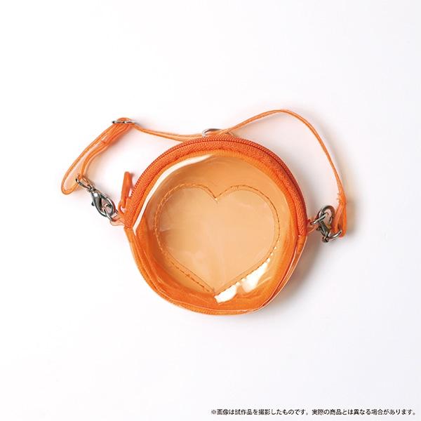 痛めいと MiMi-pochette(ミミ・ポシェット) クリアハートオレンジ