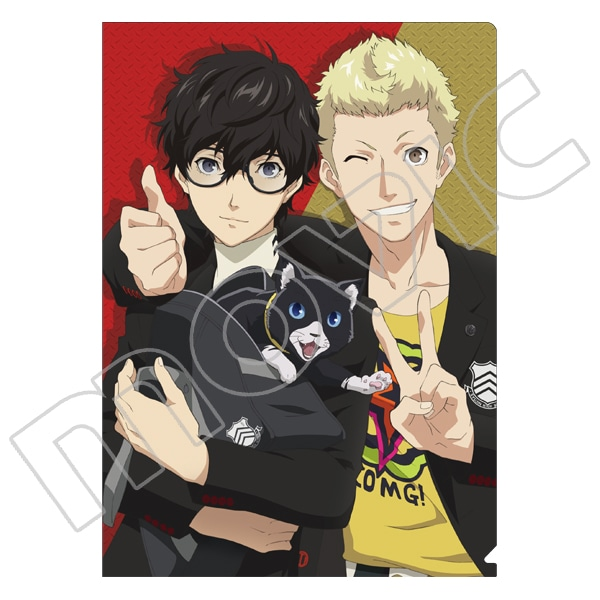 PERSONA5 the Animation クリアファイル 雨宮蓮&坂本竜司&モルガナ (PASHセレクション)