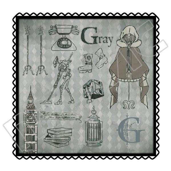 ロード・エルメロイ�U世の事件簿 -魔眼蒐集列車 Grace note- ハンドタオル グレイ