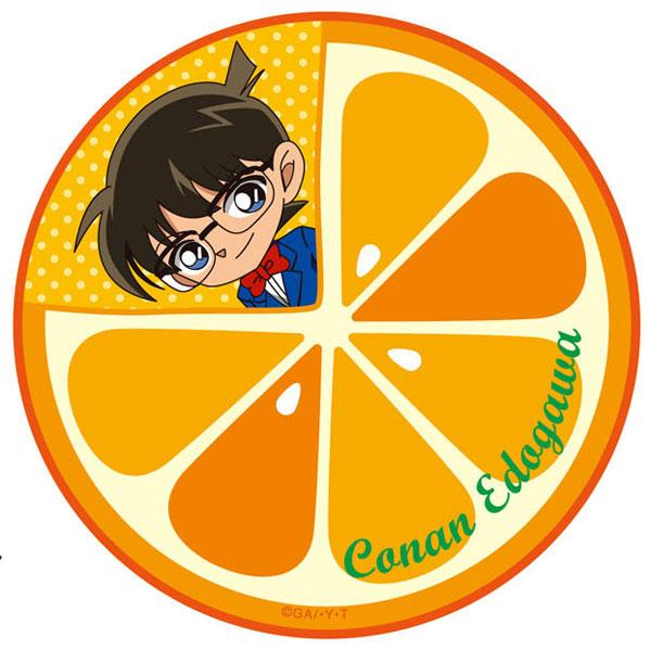 名探偵コナン 円形タオル オレンジ・コナン