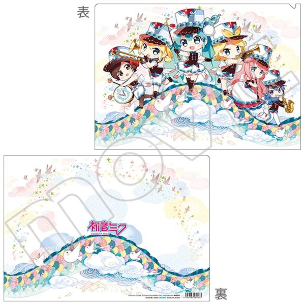 初音ミクシリーズ クリアファイル 猫魚 チャイナ風マーチングバンド