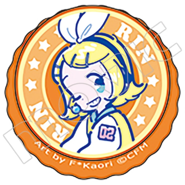 初音ミクシリーズ 王冠缶バッジ 鏡音リン 80'sレトロアイドル F*Kaori