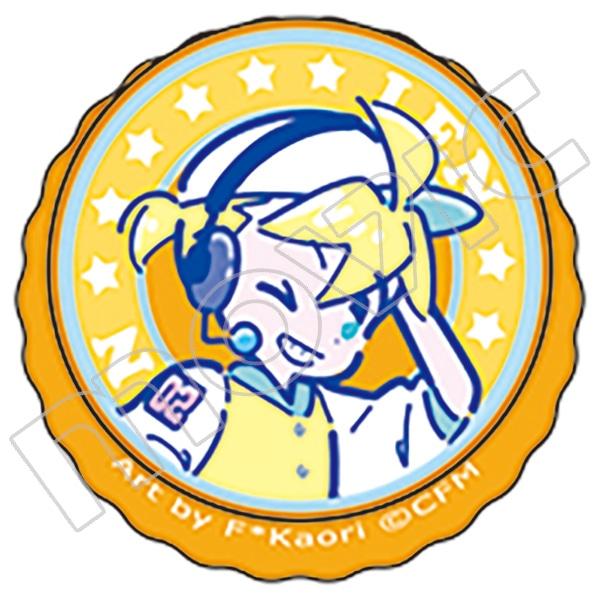 初音ミクシリーズ 王冠缶バッジ 鏡音レン 80'sレトロアイドル F*Kaori